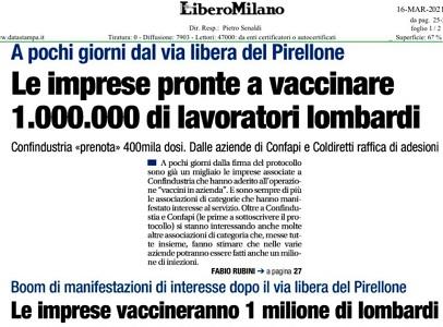 Il piano vaccinale di Confapi, intervista a Nicola Spadafora su Libero