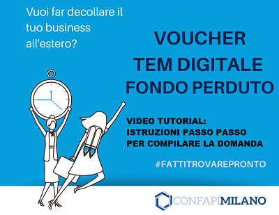 Vuoi far decollare il tuo business all'estero con il Voucher TEM? Il nostro video tutorial ti spiega come presentare la domanda